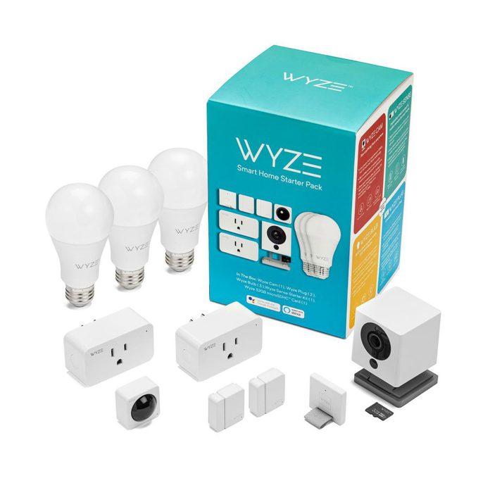 Smart light bulks, smart plugs, and camera