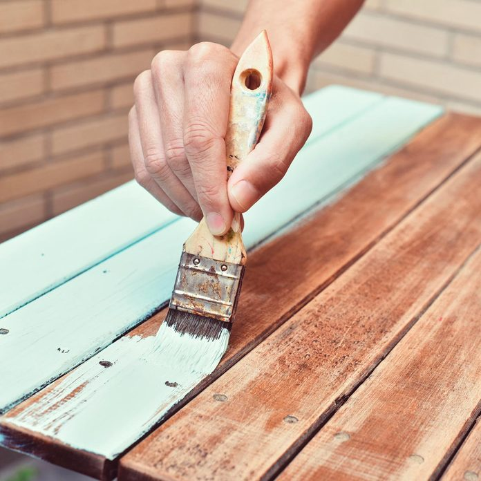 brightly painting outdoor wooding painting