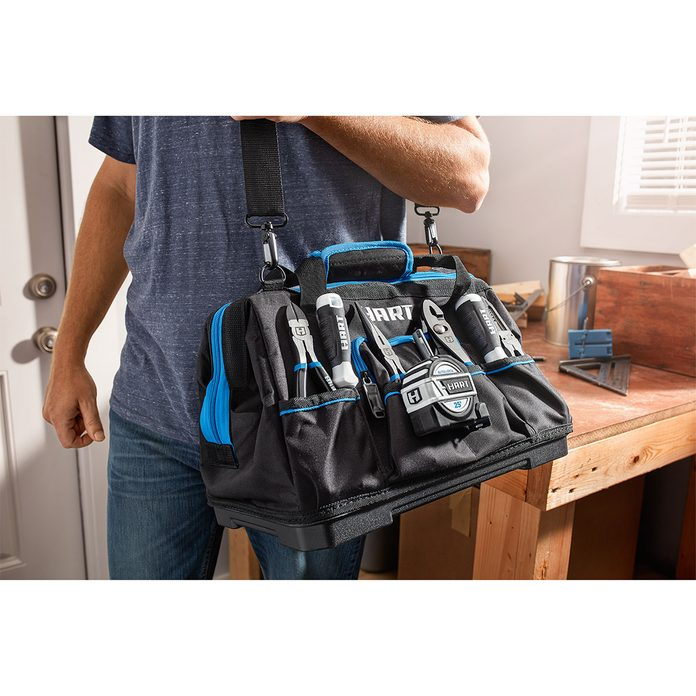 HART 16-inch Hard Bottom Tool Bag