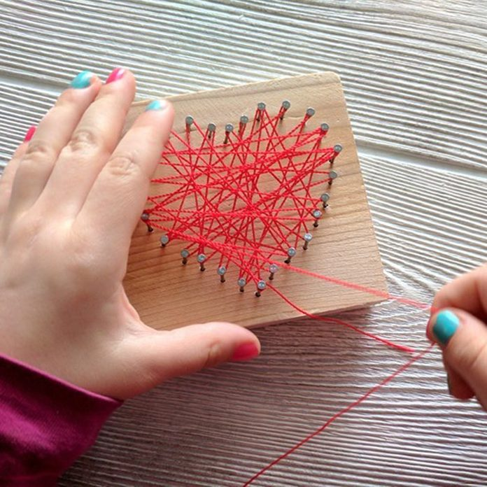 Heart Shaped String Art Craft For Kids Perfect For Valentines Day Reality Daydream 1 (1)