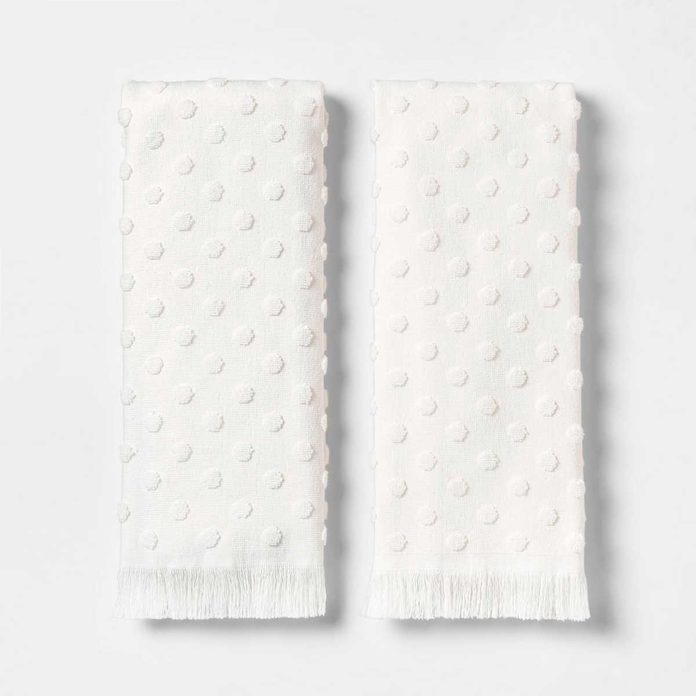target white towels