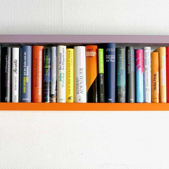 High floating shelves