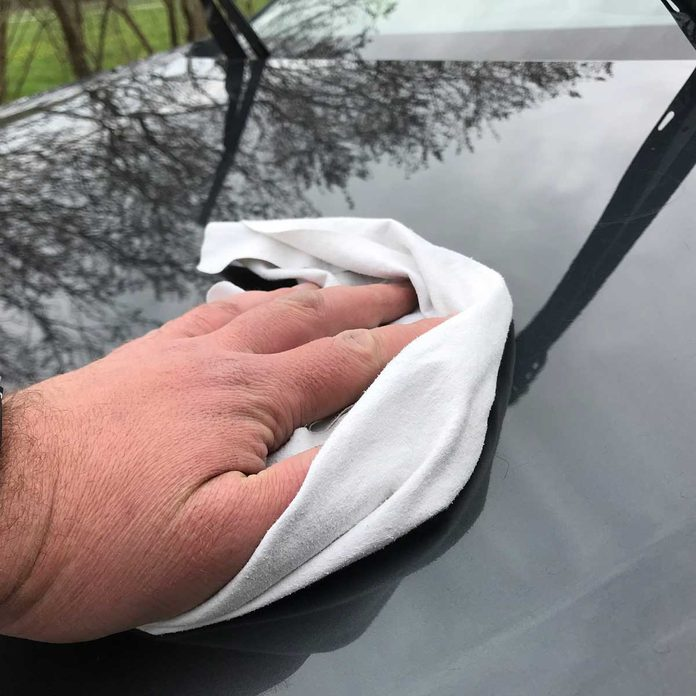 Wiping a car