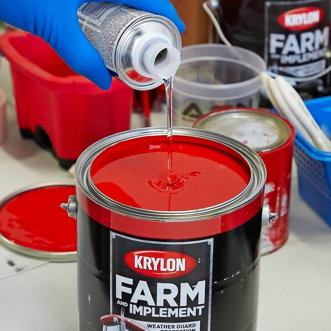 add a catalyst to paint