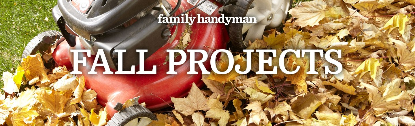 fall projects leaves and lawn mower