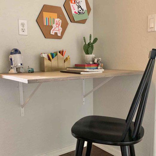 Wall-mounted desk