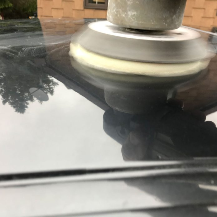 Buffing a car