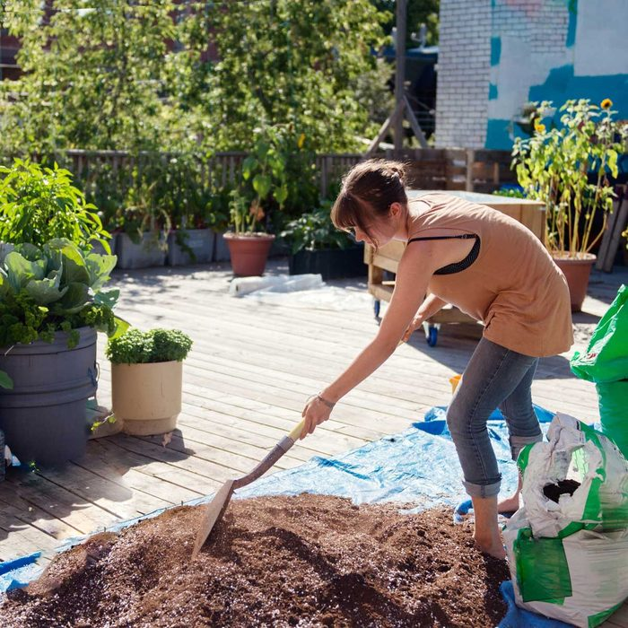 Mixing Compost And Soil