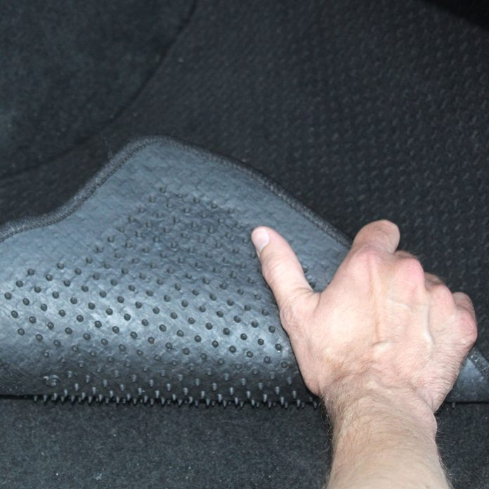 removing and cleaning car mats