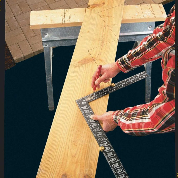 Building deck stairs
