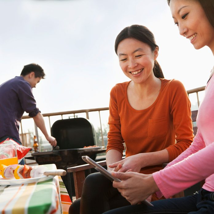 Rooftop barbecue