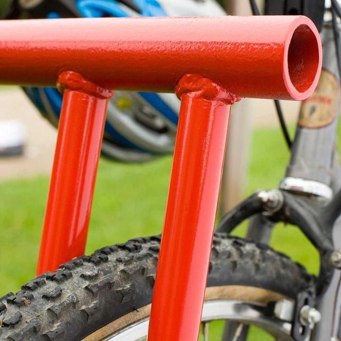 Painted bike rack