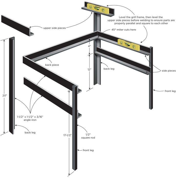 Welding plan diagram for step 2
