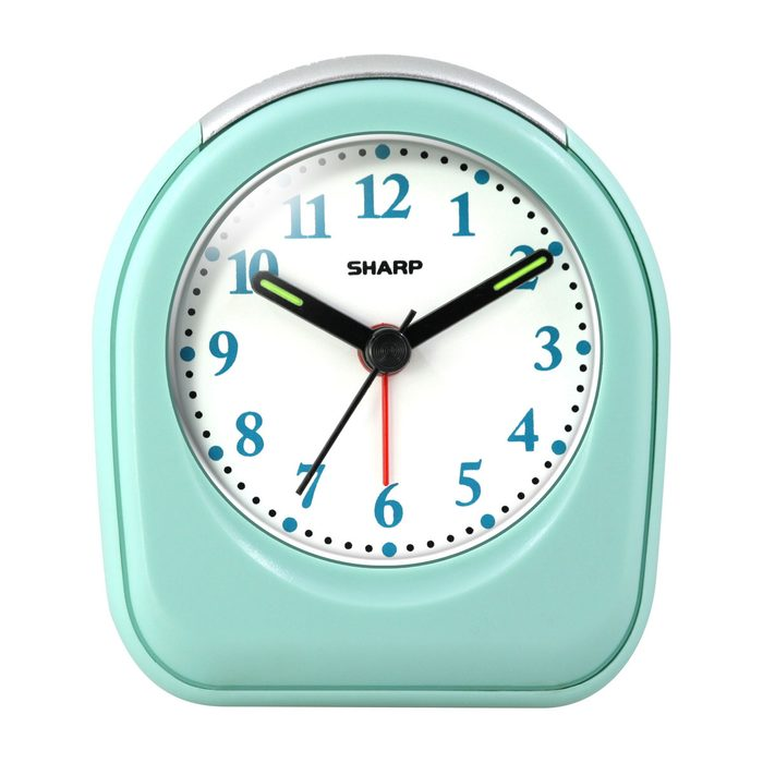 Small teal desk clock