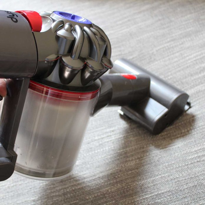 Vacuum Using an Upholstery Attachment