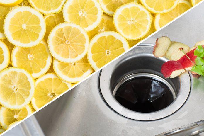 garbage disposal sink lemon uses