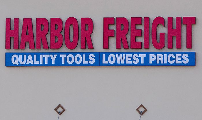 Harbor freight store sign