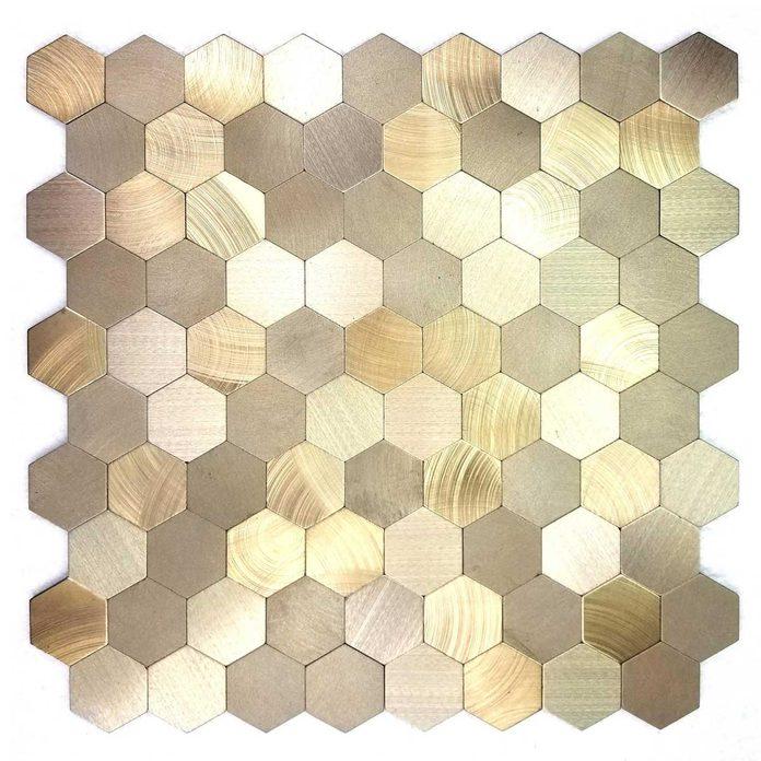 Gold honeycomb tile