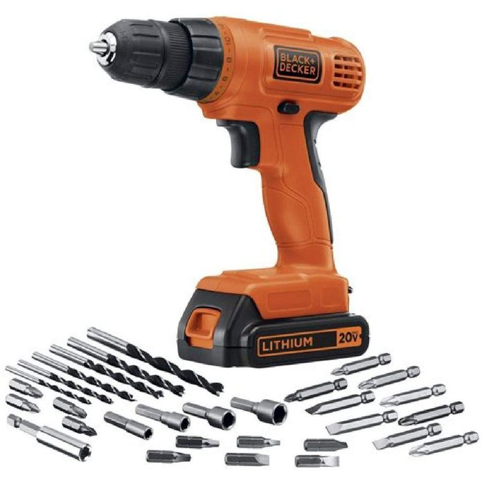 black and decker drill with accessories