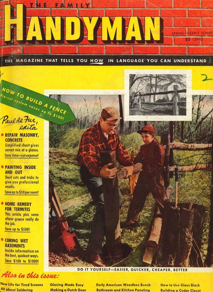 family handyman cover 1951 spring summer