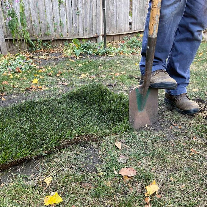 Trace the sod patch