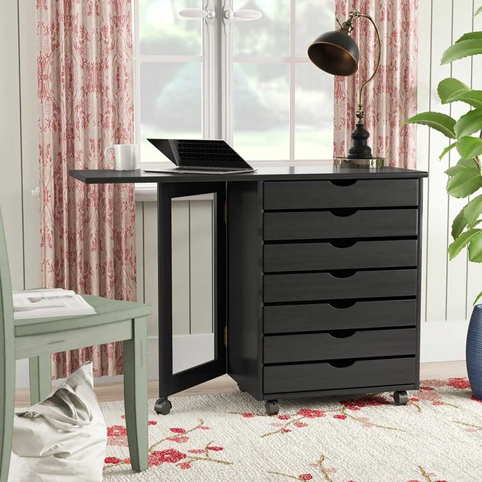 Desk with many drawers