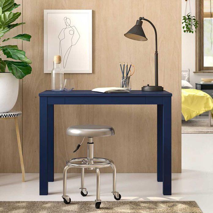 Simple blue desk