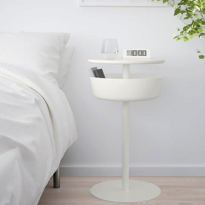 White round nightstand
