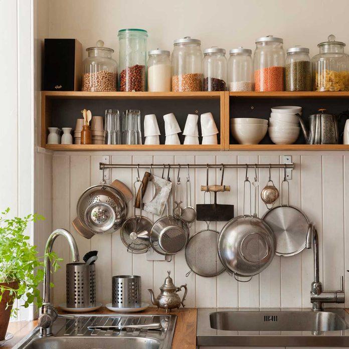Vertical storage in the kitchen