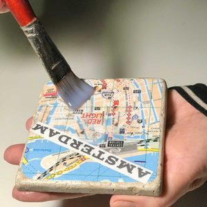 Decoupage Coasters: How to Turn Cheesy Tourist Maps Into Travel Souvenir Gifts