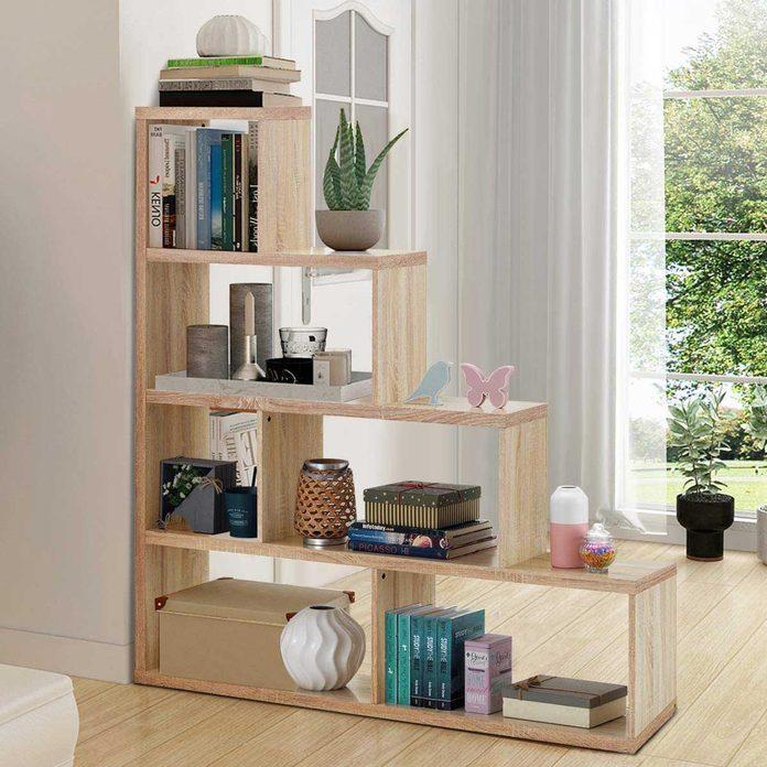 Stepped bookshelf
