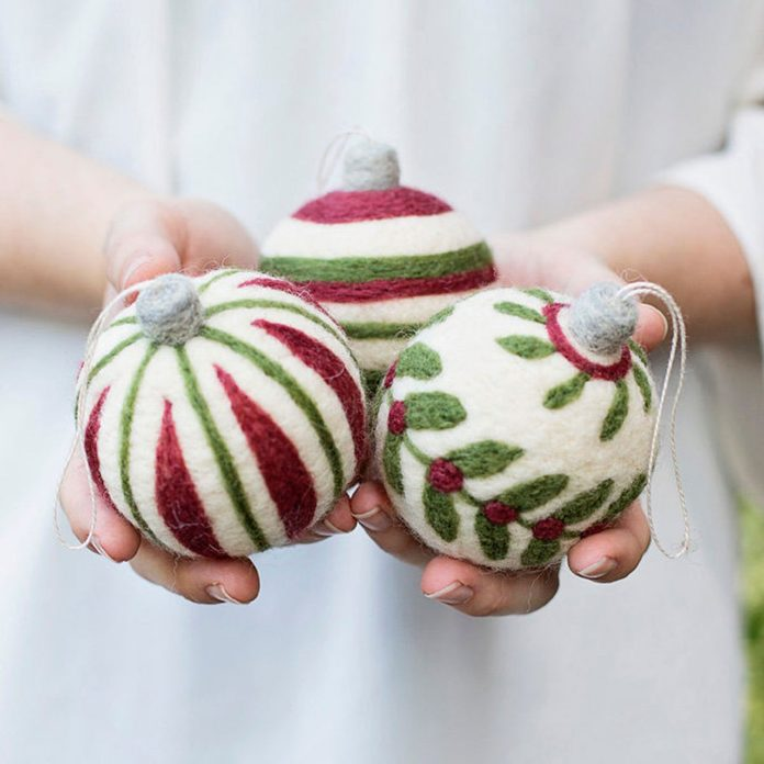 Needle point ornaments