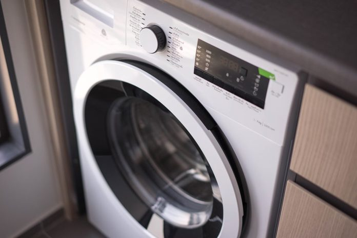 Washing machine in the Laundry room