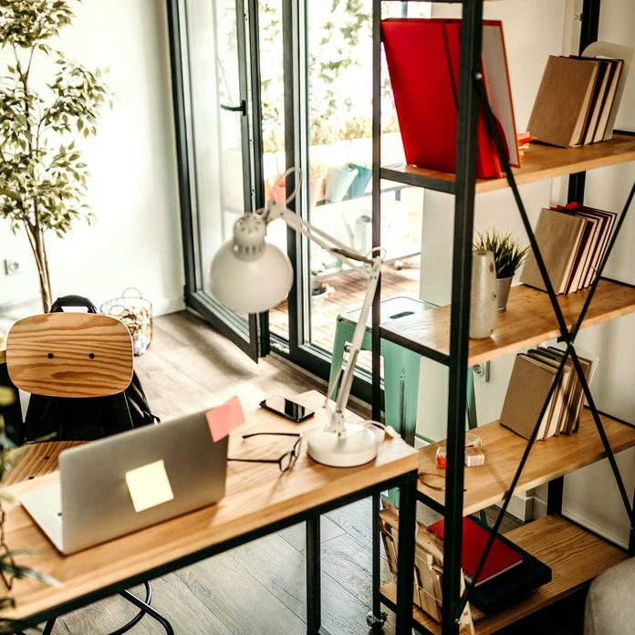 Bookshelf in a small office