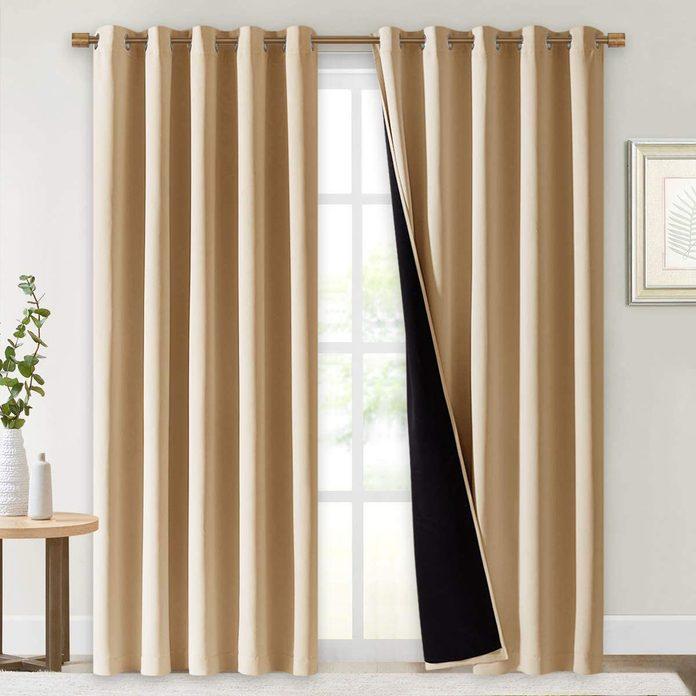 tan blackout curtains