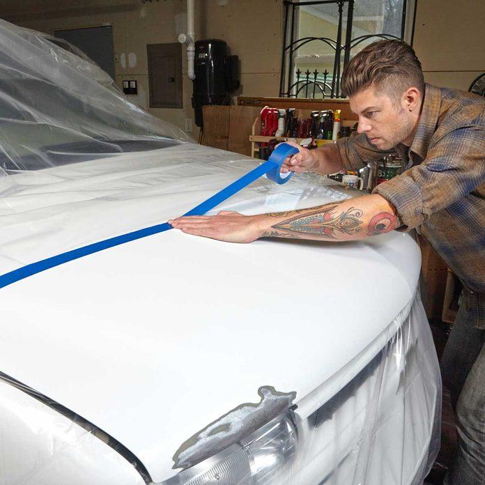 Mask Off the Repair Area Car Repair 4