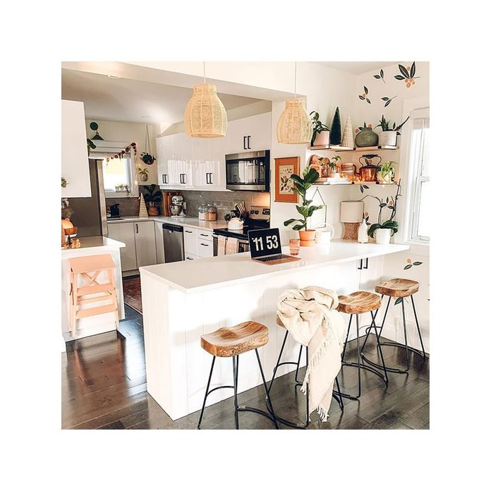 Kitchen with a peninsula