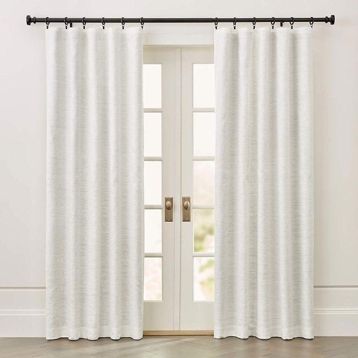 ivory silk blackout curtains