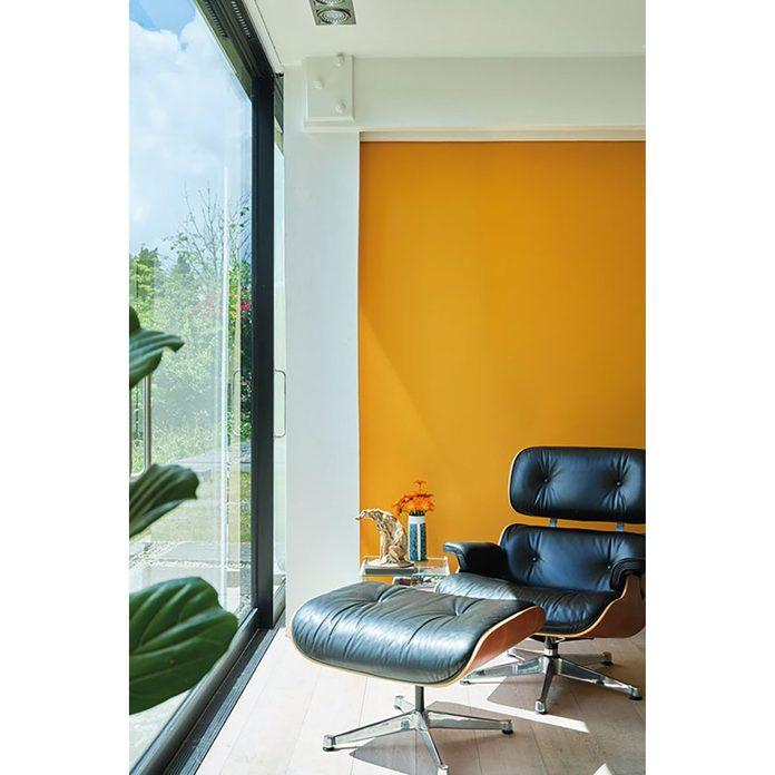 Golden orange paint