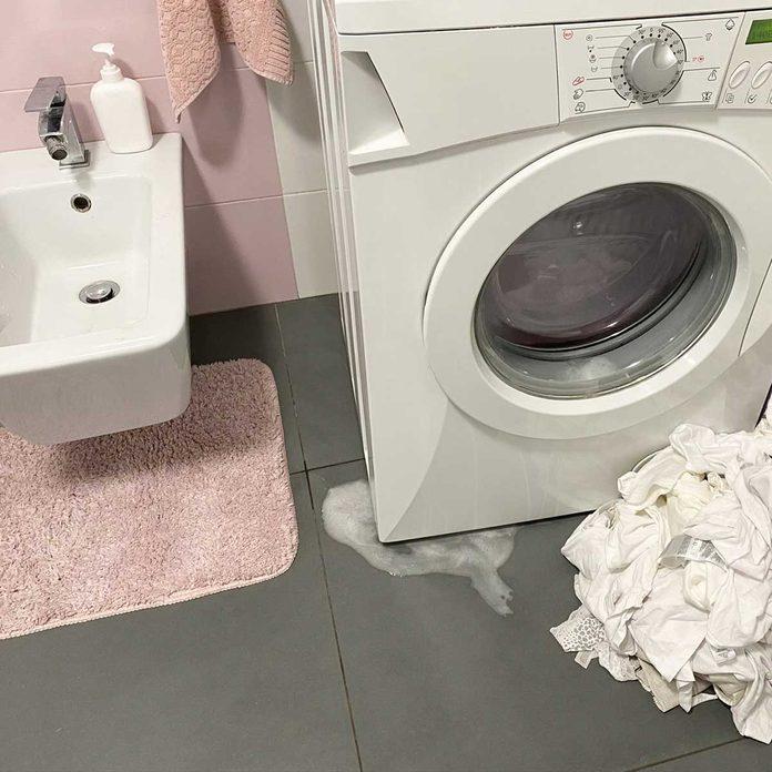 Leaking washing machine