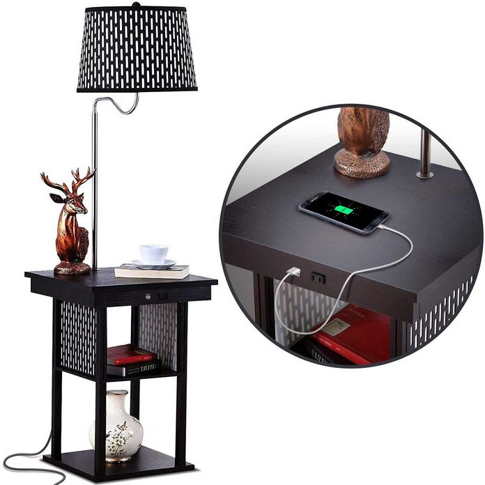 night stand with usb lamp plug in
