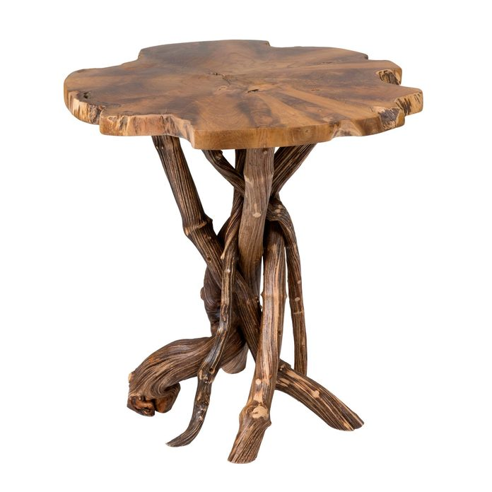 Raw Wood End Table Lohr+solid+wood+pedestal+end+table