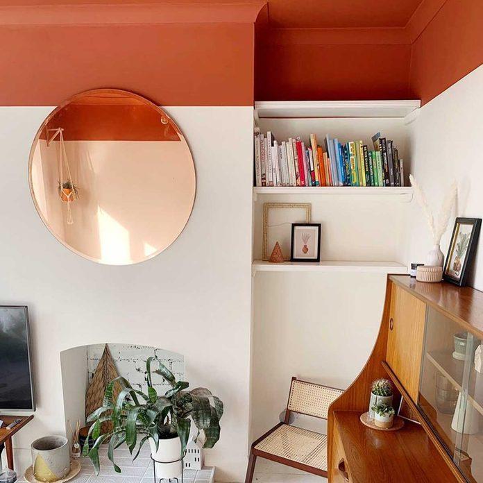 orange ceiling paint