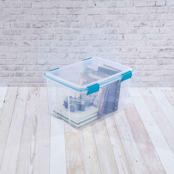 clear storage bin
