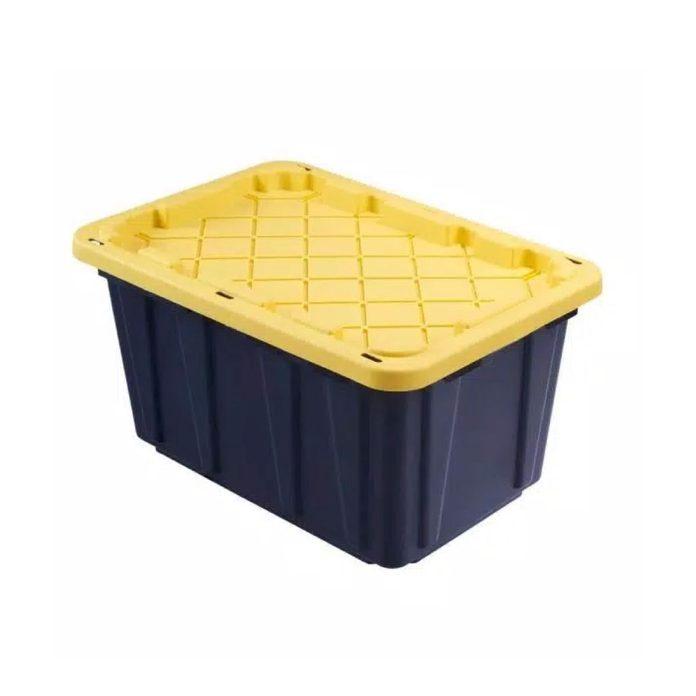 Black Yellow Hdx Storage Bins