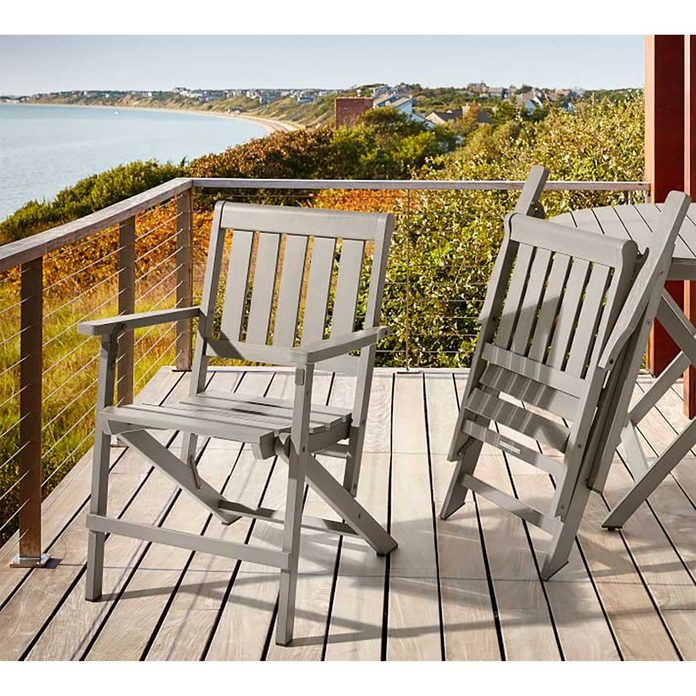 Outdoor Folding Chair Chatham Fsc Mahogany Folding Dining Chair Gray O