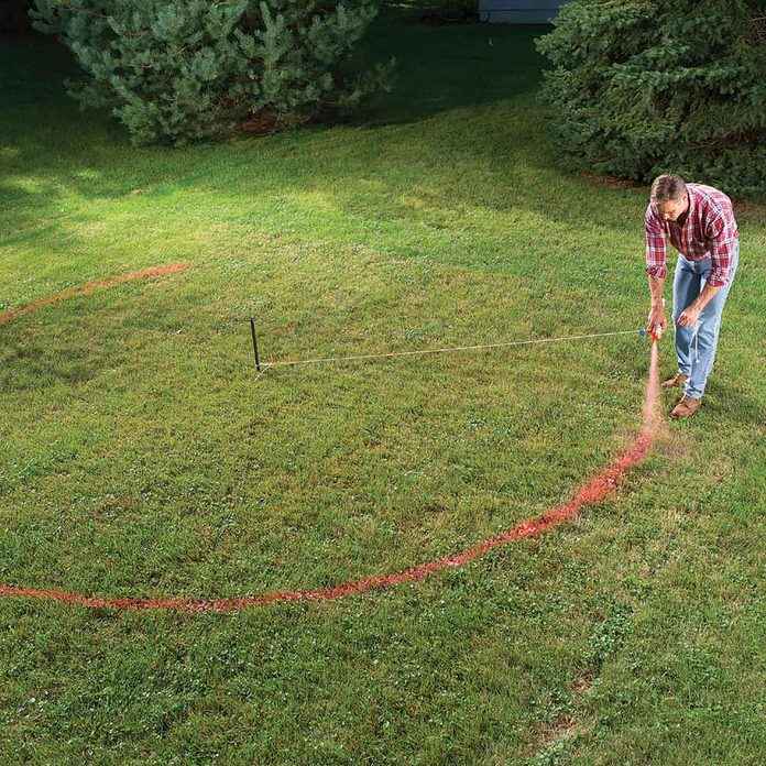 Outline the garden bed