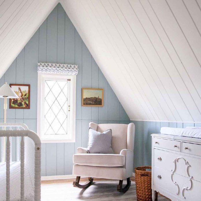 attic bedroom baby nursery