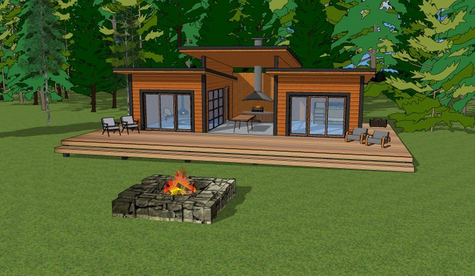 Cabin Rendering - The Getaway