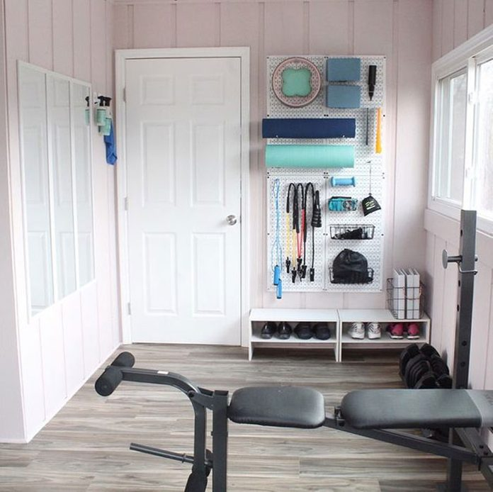 Pink and white Home Gym